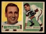 1957 Topps #28  Lou Groza  Front Thumbnail