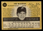 1971 O-Pee-Chee #465  Tim McCarver  Back Thumbnail