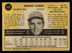 1971 O-Pee-Chee #478  Bernie Carbo  Back Thumbnail