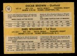 1971 O-Pee-Chee #52   -  Oscar Brown / Earl Williams Braves Rookies Back Thumbnail
