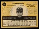 1971 O-Pee-Chee #347  Ted Uhlaender  Back Thumbnail