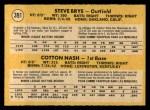 1971 O-Pee-Chee #391   -  Cotton Nash / Steve Brye Twins Rookies Back Thumbnail