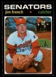 1971 O-Pee-Chee #399  Jim French  Front Thumbnail