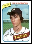 1980 Topps #709  Pat Underwood   Front Thumbnail