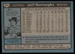 1980 Topps #545  Jeff Burroughs  Back Thumbnail