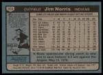 1980 Topps #333  Jim Norris    Back Thumbnail