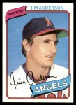 1980 Topps #183  Jim Anderson    Front Thumbnail
