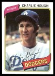 1980 Topps #644  Charlie Hough  Front Thumbnail