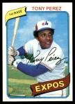 1980 Topps #125  Tony Perez  Front Thumbnail