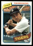 1980 Topps #416  Tom Brookens   Front Thumbnail