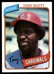1980 Topps #33  Tony Scott  Front Thumbnail