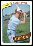 1980 Topps #427  Tom Hutton    Front Thumbnail