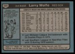 1980 Topps #549  Larry Wolfe  Back Thumbnail