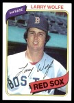 1980 Topps #549  Larry Wolfe  Front Thumbnail