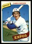 1980 Topps #319  Chris Speier  Front Thumbnail