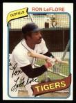 1980 Topps #80  Ron LeFlore  Front Thumbnail