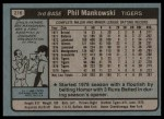 1980 Topps #216  Phil Mankowski  Back Thumbnail