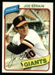 1980 Topps #538  Joe Strain  Front Thumbnail