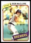 1980 Topps #357  Bob McClure  Front Thumbnail