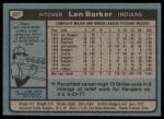 1980 Topps #227  Len Barker  Back Thumbnail