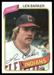 1980 Topps #227  Len Barker  Front Thumbnail