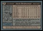 1980 Topps #349  Jack Brohamer  Back Thumbnail