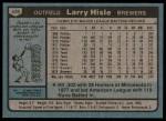 1980 Topps #430  Larry Hisle    Back Thumbnail