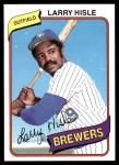 1980 Topps #430  Larry Hisle    Front Thumbnail