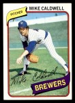 1980 Topps #515  Mike Caldwell   Front Thumbnail