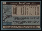 1980 Topps #58  Doug Flynn  Back Thumbnail