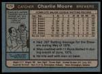 1980 Topps #579  Charlie Moore  Back Thumbnail