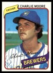 1980 Topps #579  Charlie Moore  Front Thumbnail