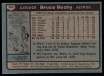1980 Topps #289  Bruce Bochy  Back Thumbnail