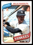 1980 Topps #460  Willie Randolph  Front Thumbnail
