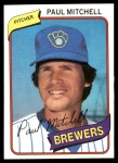 1980 Topps #131  Paul Mitchell  Front Thumbnail