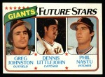 1980 Topps #686   -  Greg Johnston / Dennis Littlejohn / Phil Nastu  Giants Rookies Front Thumbnail