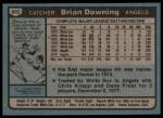 1980 Topps #602  Brian Downing  Back Thumbnail
