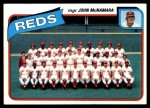 1980 Topps #606   -  John McNamara Reds Team and Checklist  Front Thumbnail