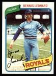 1980 Topps #565  Dennis Leonard  Front Thumbnail