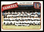 1980 Topps #424 DH  -  Dick Howser Yankees Checklist  Front Thumbnail