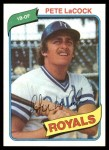 1980 Topps #389  Pete LaCock  Front Thumbnail