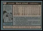 1980 Topps #631  Mark Littell  Back Thumbnail