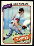 1980 Topps #503  Mike Cubbage  Front Thumbnail
