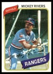 1980 Topps #485  Mickey Rivers  Front Thumbnail