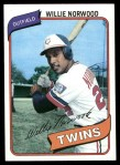 1980 Topps #432  Willie Norwood  Front Thumbnail
