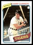 1980 Topps #176  Champ Summers  Front Thumbnail