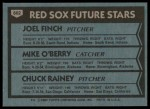 1980 Topps #662   -  Joel Finch / Mike O'Berry / Chuck Rainey  Red Sox Rookies Back Thumbnail