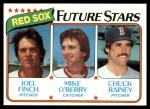 1980 Topps #662   -  Joel Finch / Mike O'Berry / Chuck Rainey  Red Sox Rookies Front Thumbnail