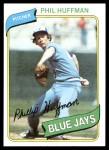 1980 Topps #142  Phil Huffman   Front Thumbnail