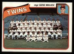 1980 Topps #328   -   Gene Mauch Twins Team and Checklist  Front Thumbnail